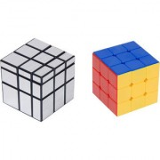 Combo Offer of Silver Mirror Cube and 3 by 3 Cube (2 Pieces)