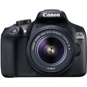 Canon EOS 1300D 18MP Digital SLR Camera (Black) with 18-55 and 55-250mm IS II Lens 16GB Card and Carry Case