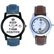 Super Power Of Positive Thinking And Brown Peacock Couple Casual SCK Analogue Watch By Google Hub