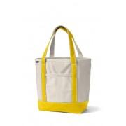 ランズエンド LANDS' END ランズエンド・トート/ナチュラル/オープントップ/レギュラーハンドル/ミディアム/トートバッグ(ナチュラル/イエローダンデライオン)