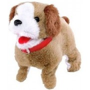 Atorakushon Soft Toy Fantastic Puppy Battery Operated Back Flip Jumping Dog Jump Run Toy Kid