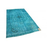 Rozenkelim vintage vloerkleed blauw 41510 273cm x 166cm
