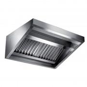 Aluminox Sas Cappa di Aspirazione a Parete Snack con Motore Inox 304 - Cm 70 x 280 x 55 h - N