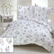 Zöld virág mintás 5 részes ágynemű huzat