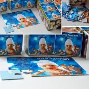 Invitatie botez puzzle cu 12 piese unicat