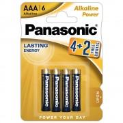 Baterii alcaline PANASONIC Power Lasting Energy LR3/AAA, 6 buc/set