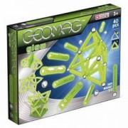 Jucarie Set de constructie magnetic Geomag Glow 40 piese