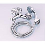 Смесител за баня с единично рамо SAPIR SP 7100 AZ2F, Маркуч, Душ, Закачалка, хром