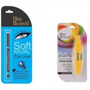 Blue Heaven blue soft kajal and walk free mascara combo (Set of 2)