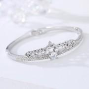 American Diamond Platinum Plated Silver Bracelet American Diamond Silver Bracelet Online