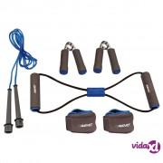 Avento set za vježbanje sivi / kobaltno plavi / crni 41VE