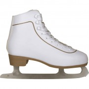 Nijdam Patins patinagem art. clássicos mulher, couro, 39, 0043-WIT-39