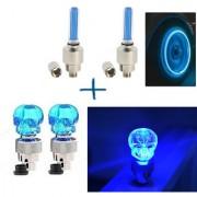 STAR SHINE BIKE BLUE SET OF 2 STYLISH TYRE LED For Hero MotoCorp Achiever
