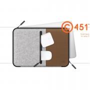 LabC Pocket Sleeve 15 - текстилен калъф за MacBook Pro 15 и лаптопи до 15.6 инча (кафяв)