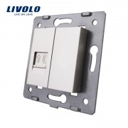 Modul Priza simpla telefon, RJ11, Livolo