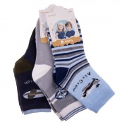 E5003 3 pár gyerek zokni navy, szürke és kék