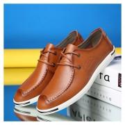 Mocasines Zapatos De Hombre De Negocios De Ecocuero De Dermis De Respirable De Moda – Marrón