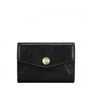 Maxwell-Scott kleine italienische Leder Geldbörse in Schwarz - Fontanelle - Brieftasche, Portemonnaie, Geldbeutel, Kreditkartenetui