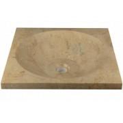 Mosdókagyló - csiszolt márvány - SALERNO