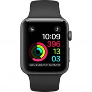 Refurbished-Stallone-Apple Watch (Series 2) 42 Aluminium Space grey Sport Grey/Black