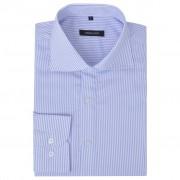 vidaXL Csíkos fehér és világoskék L méretű üzleti férfi ing
