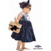 Rochie Miss Mignon bleumarin din bumbac fete 3-5 ani