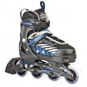 Top1Toys Inline Skate 33-36 Zwart/Blauw Hudora