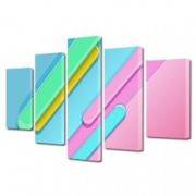 Tablou Canvas Premium Abstract Multicolor Culori Deschise Decoratiuni Moderne pentru Casa 120 x 225 cm