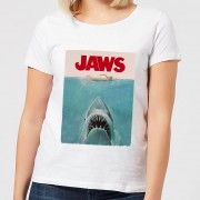 Jaws Classic Poster Dames T-shirt - Wit - XL - Wit