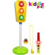 Kiddie Play Traffic Light Toy for Kids Cars and Bikes with Real Lights and Sounds Including Traffic Wand