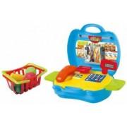 Set de joaca pentru copii casa de marcat si cos de cumparaturi cu accesorii 17 piese My Carry Along Market