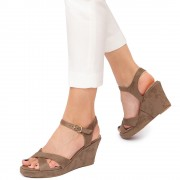 Sandale dama Lois cu platforma comoda, Verde 36