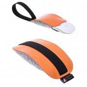Para Apple Magic Mouse 2 Estilo Europeo Portátil Bolsa De Almacenamiento De Polvo Bolsa Protectora De Cuero De La PU De Fieltro De Lana (naranja)