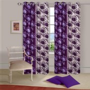 Cloud India 9 Ft Long Door Supremo Curtains Set Of 2 Piece Polyster Living Room Bed Room Curtains With Attractive Color