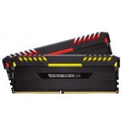 Corsair vengeance RGB led 16Gb x 2 kit Ddr4-3600 1.2V CL18 288pin Memory with black heatsink