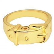 Memorial Gallery Pets 2032GP-8 Ring Collar 14K Gold/Sterling Silver Plating Cremation Pet Jewelry, Size 8