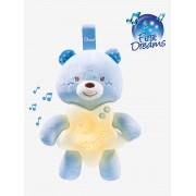 Luz de presença musical ursinho, da CHICCO azul claro liso com motivo