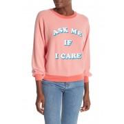 Wildfox Ask Me Junior Sweatshirt PIGMENT HOT LIPSTICK