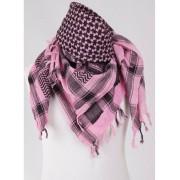 candy pink / zwarte PLO / Arafatsjaal