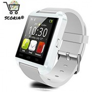 SCORIA Bluetooth Smartwatch U8 WHITE With Apps Compatible with Samsung Galaxy On5 Pro