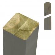Plus Danmark Paal vuren 9 x 9 cm grijsbruin (188 cm) met ongepunte en afgeronde kant geschaafd