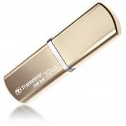 Transcend JetFlash 820G USB 3.0 Flash Drive - 32GB, Aluminum Body, Lightweight, Compact, Lanyard, Champagne Gold - TS32GJF820G
