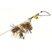 Caña de juguete con plumas Crunchy Feather para gatos - 1 unidad