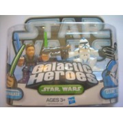 Star Wars Galactic Heroes Action Figures - Anakin Skywalker and Clone Trooper Episode Ii