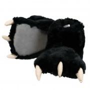 Merkloos Zwarte beer poten pantoffels voor kinderen