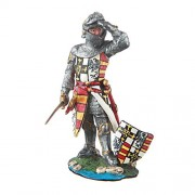 Tin Toy Soldier Medieval Standing Knight hand painted metal sculpture miniature figurine 54mm #11.35