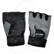Fitnes rukavice Xplorer sive-koža XL