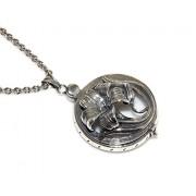 ARGENTO 925 : Collana rolo 65 cm con ciondolo porta lente apribile made in italy 41 gr