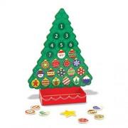 Melissa & Doug Calendario de Adviento de Árbol de Navidad, Juguete de Madera, Árbol Magnético Festivo y Religioso (Para Niños de 3-7 Años, 25 Imanes)