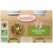 Babybio Légumes Verts - 2 x 130g - Babybio